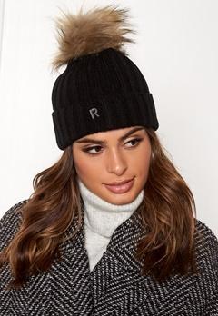 ROCKANDBLUE Hat Pom Pom Beanie Knit Black/Natural Bubbleroom.dk