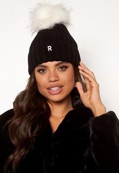 ROCKANDBLUE Hat Pom Pom Beanie Knit Black/White Bubbleroom.dk