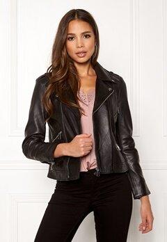 ONLY Rocky L/S Leather Jacket Black Bubbleroom.dk
