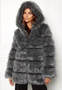 AMO Couture Rubens Faux Fur Coat Silver Fox Bubbleroom.dk