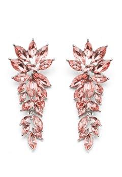 SNÖ of Sweden Rush Pendant Earrings Silver/Light Pink Bubbleroom.dk