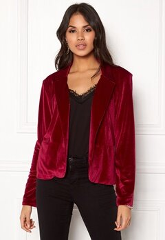 Rut & Circle Adina Velvet Jacket Rococco Red Bubbleroom.dk