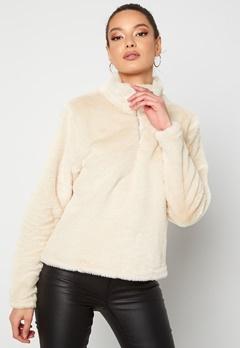 Rut & Circle Alex Fur Sweater Sand Bubbleroom.dk