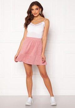 Rut & Circle Ava Suede Skirt Dusty Pink Bubbleroom.dk