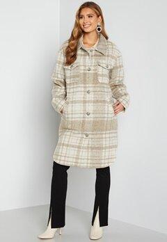 Rut & Circle Becky Check Coat 177 Light Beige/Whit bubbleroom.dk