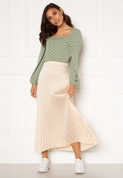 Rut & Circle Bianca Long Skirt Light Beige Bubbleroom.dk