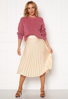 Rut & Circle Bianca Pleated Skirt Light Beige Bubbleroom.dk