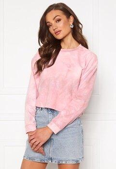 Rut & Circle Celine Short Sweater Pink Tie Dye Bubbleroom.dk