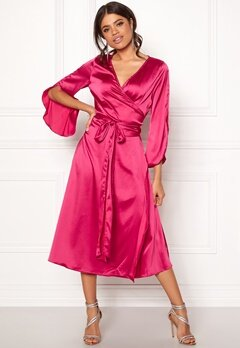 Rut & Circle Fab Wrap Long Dress Hot Pink Bubbleroom.dk
