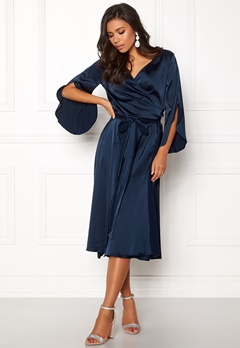 Rut & Circle Fab Wrap Long Dress Midnight Blue Bubbleroom.dk
