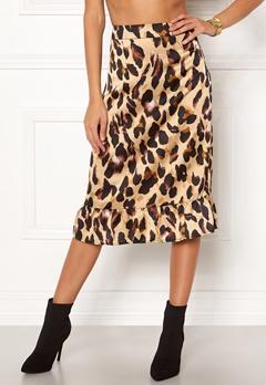 Rut & Circle Frill Midi Skirt Leopard Bubbleroom.dk