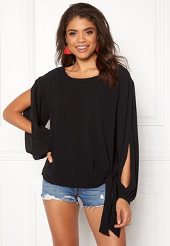 Rut & Circle Julia Open Sleeve Black Bubbleroom.dk