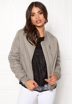 Rut & Circle Kate Front Zip Jacket Lt Grey Bubbleroom.dk