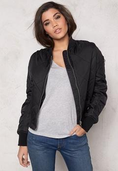 Rut & Circle Kate Quilt Bomber Jacket Black Bubbleroom.dk