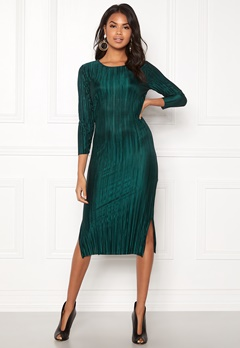 Rut & Circle Katrin Dress Dark Green Bubbleroom.dk