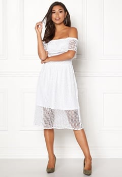 Rut & Circle Li Off Shoulder Dress White Bubbleroom.dk