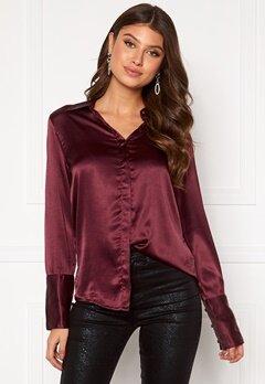 Rut & Circle Lucy Shirt Wine Red Bubbleroom.dk