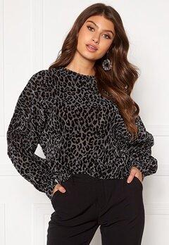 Rut & Circle Nilla Lurex Sweater Black/Silver LEO Bubbleroom.dk