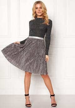 Rut & Circle Nina Pleat Skirt Silver Bubbleroom.dk