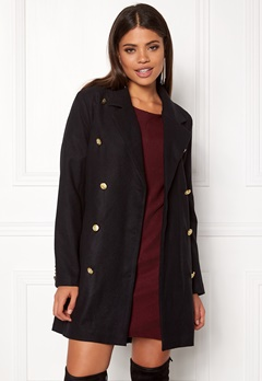Rut & Circle Nor Button Coat Black Bubbleroom.dk