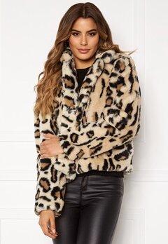 Rut & Circle Nova Faux Fur Jacket Leo Print Bubbleroom.dk