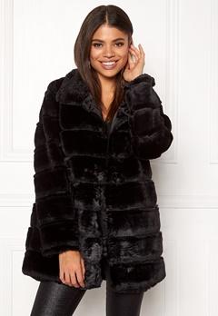 Rut & Circle Panel Faux Fur Jacket Black Bubbleroom.dk