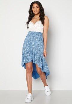 Rut & Circle Telma Asymmetric Skirt Blue Print bubbleroom.dk