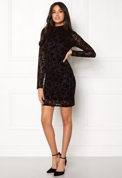 Rut & Circle Velvet Print Dress Black Bubbleroom.dk