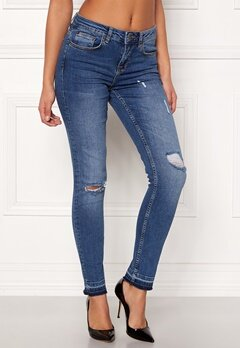 Rut & Circle Victoria Destroyed Jeans Dark Wash Bubbleroom.dk