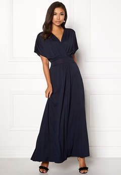 Rut & Circle Vivian Long Dress Dark Navy Bubbleroom.dk
