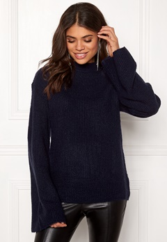 Rut & Circle Wide Sleeve Pullover Midnight Blue Bubbleroom.dk