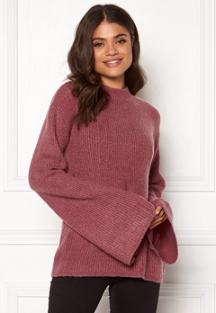 Rut & Circle Wide Sleeve Pullover Old Rose Bubbleroom.dk
