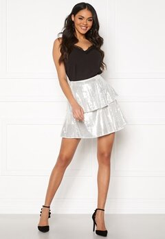 Rut & Circle Yasmin Skirt Silver Sequins Bubbleroom.dk