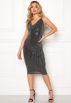 Girl In Mind Sam Sequin Mini Dress Blk Bubbleroom.dk
