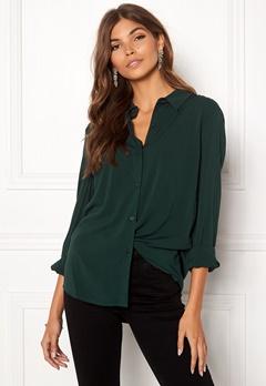 Samsøe & Samsøe Milly Shirt Darkest Spruce Bubbleroom.dk