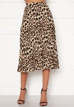 Sandra Willer X Bubbleroom Pleated midi skirt Leopard Bubbleroom.dk