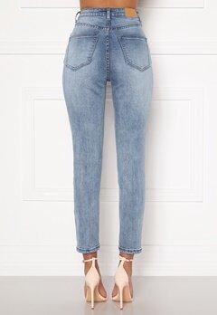 Sandra Willer X Bubbleroom Slim fit mom jeans Light blue Bubbleroom.dk