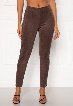 DRY LAKE Sansa Trousers 207 Brown Faux Suede Bubbleroom.dk
