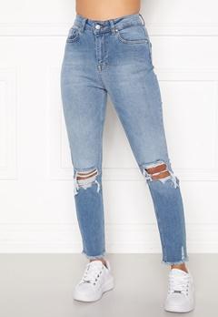 Sara Sieppi x Bubbleroom Distressed Jeans Blue Bubbleroom.dk