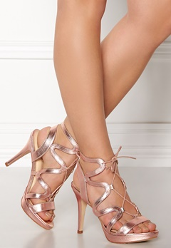 SARGOSSA Chic Nappa Leather Heels Rose Gold Bubbleroom.dk