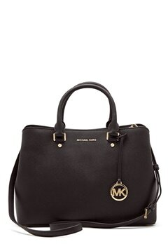 Michael Michael Kors Savannah LG Satchel Bag 001 Black Bubbleroom.dk