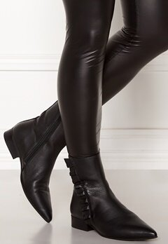 SELECTED FEMME Alexia Leather Frill Boot Black Bubbleroom.dk