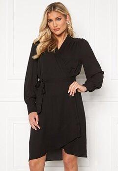 SELECTED FEMME Alva LS Wrap dress Black Bubbleroom.dk