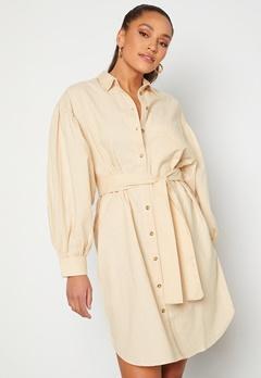 SELECTED FEMME Cecilie Short Shirt Dress Sandshell Bubbleroom.dk