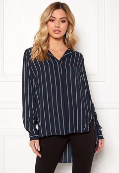 SELECTED FEMME Dynella stripe L/S Shirt Creme Bubbleroom.dk