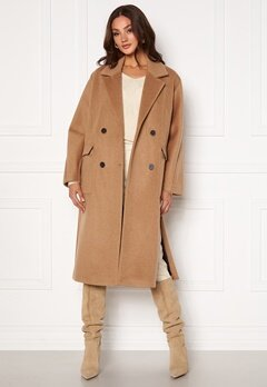 SELECTED FEMME Element Wool Coat Tigers Eye Bubbleroom.dk