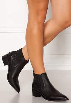 SELECTED FEMME Elena New Leather Boot Black Bubbleroom.dk