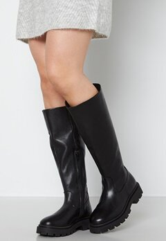 SELECTED FEMME Femma Leather Boot Black bubbleroom.dk