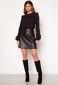 SELECTED FEMME Ibi Leather Skirt Black Bubbleroom.dk