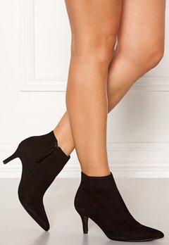 SELECTED FEMME Lea Suede Heel Boot Black Bubbleroom.dk